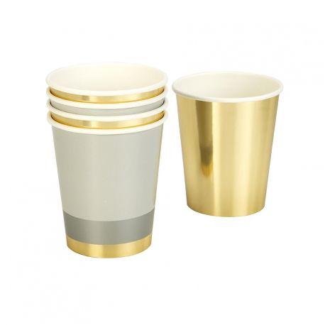 Bicchieri in carta oro metallizzato