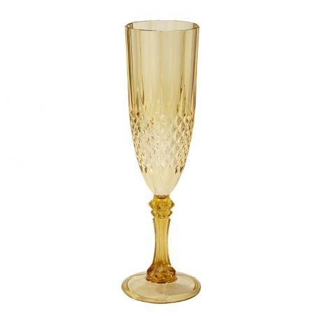 Flute champagne oro in policarbonato