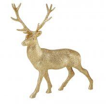 Centrotavola Cervo Glitterato Oro