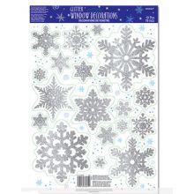 Decori Fiocchi di Neve per Vetro e Plastica