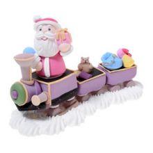 Treno con Babbo Natale - Decorazione zucchero