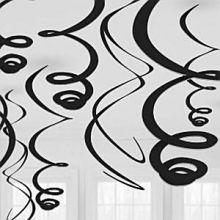 Decorazioni Spirali Nere (12 pz)