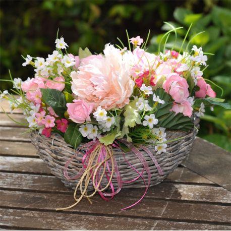 Fiori Rosa E Bianchi.Ovalina Fiori Sfumature Di Rosa