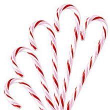 Bastoni in zucchero a righe rosso-bianche