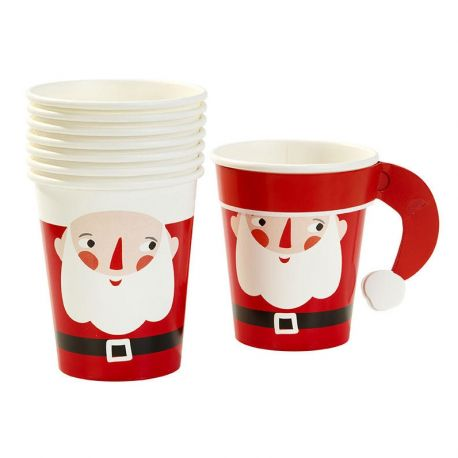 Bicchieri Babbo Natale ( 8 pz)