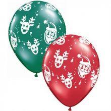 Palloncini Babbo Natale e Rudolf 6 pz