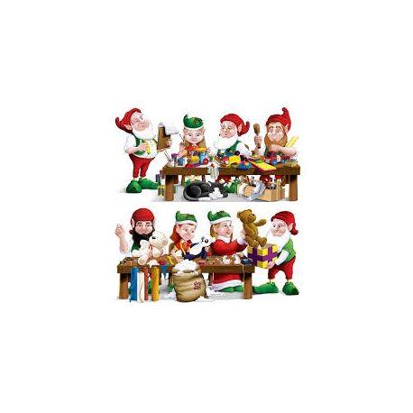 Decorazione Folletti Babbo Natale 330 cm