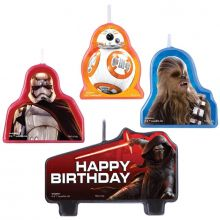 Set 4 Candeline Immagini Star Wars