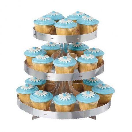 Alzatina cupcakes 3 piani color Argento