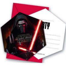 6 Biglietti di Invito festa Star Wars
