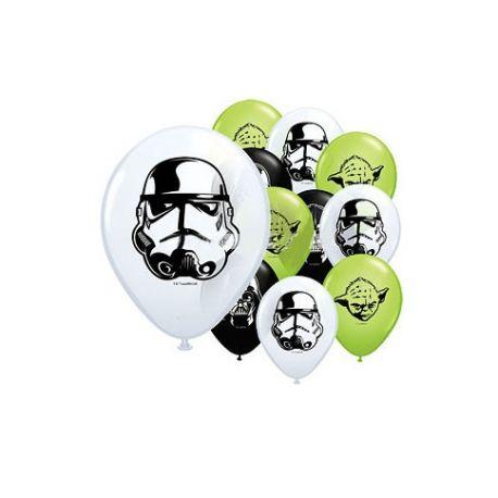 Star Wars 10 Mini - Palloncini Cloni Yoda 12 cm