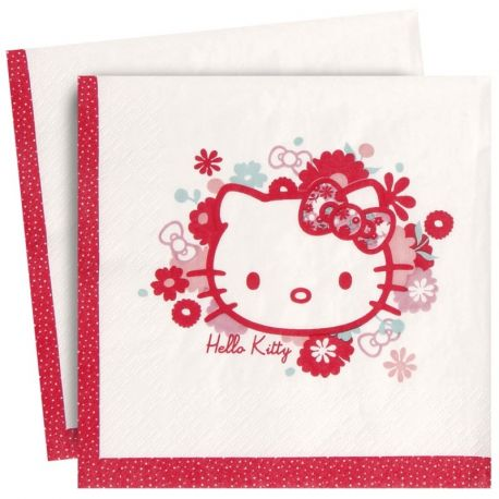 Hello Kitty Flowers Tovaglioli di Carta