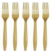 Forchette Plastica Oro  (20 pz)