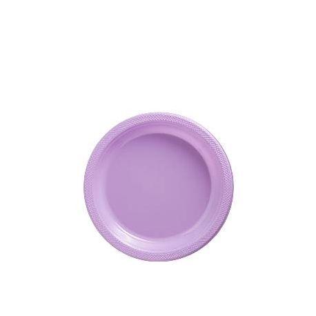 Piatti di Plastica Lilla da dessert (20 pz)