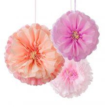 Pom poms Fiori di Rose selvatiche