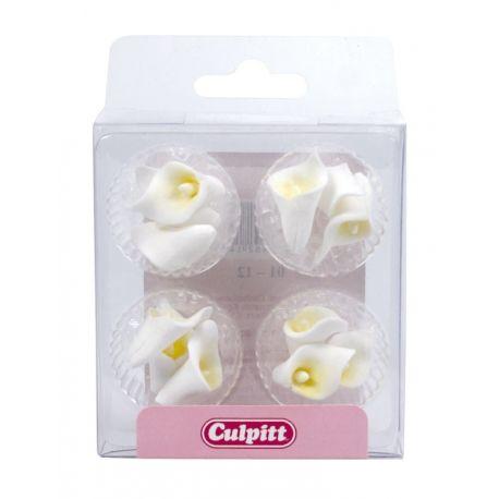 12 Fiori di Calla in zucchero da 22 mm