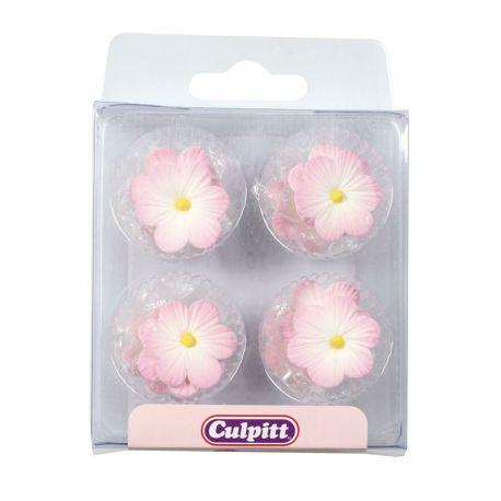 12 Fiori di Zucchero Rosa 25 mm