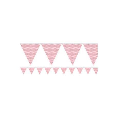 Festone rosa pois bianchi