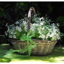 Cesto Medio con fiori bianchi