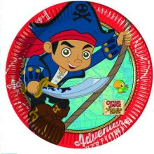 Capitan Jake Piattini di Carta 20 cm  (8 pz)