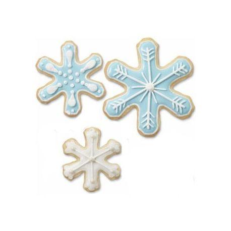 Set  3 tagliapasta in metallo fiocco di neve