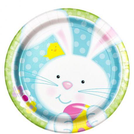 Piatti  di Pasqua Coniglietto e Pulcino