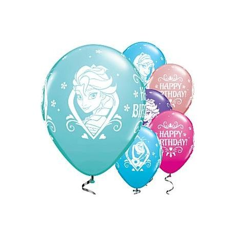 8 Palloncini Frozen Elsa e Olaf Mix Colori