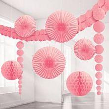Grande Kit Decorazioni in colore Rosa (9 pz)