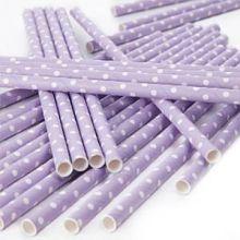 Cannucce violetto con pois bianchi