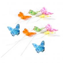 Farfalle Colorate con pick ( 6 pz)