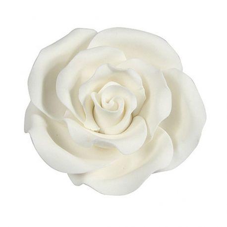 Rose in zucchero bianche 4 cm ( 2 pz)