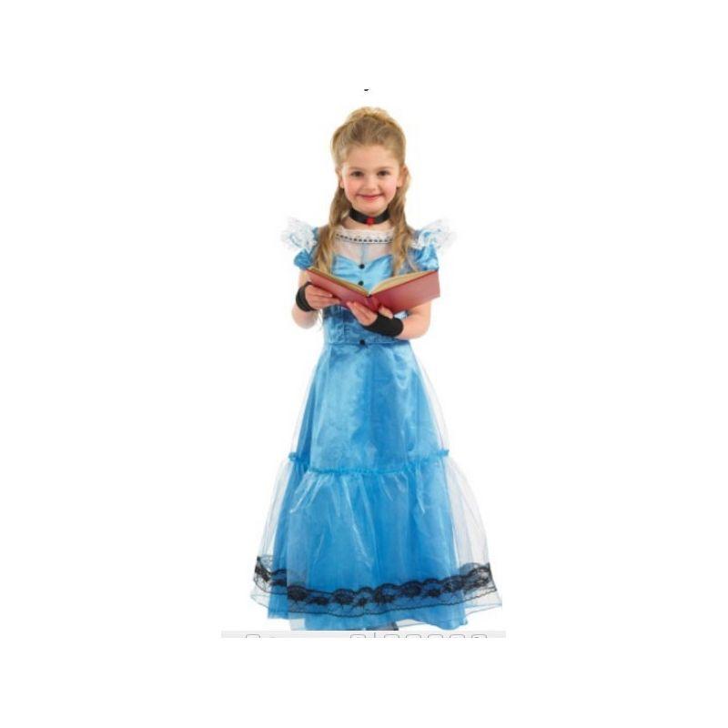 Alice nel Paese delle Meraviglie Fiaba Costume Bambino Tutte le Taglie