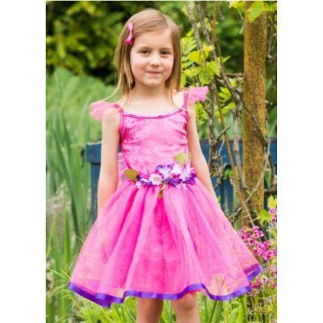 Vestito Fatina dei Fiori color Rosa-Lilla