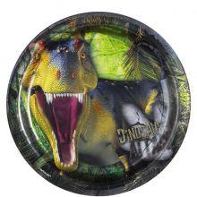 Piatti di Carta Dinosauri 17 cm (8 pz)