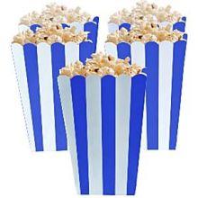 5 Porta popcorn strisce blu