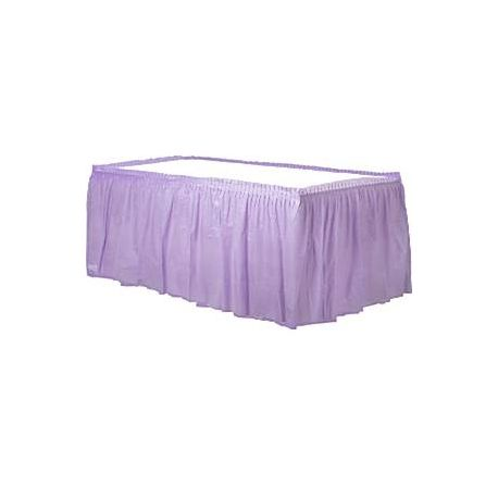 Gonna in plastica Violetto per tavolo (4 m)