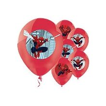 Palloncini Spiderman in lattice (6 pz)