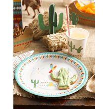 Piatti di carta Festa Indiani (12 pz)