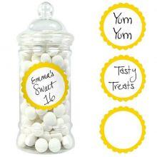 20 etichette adesive color giallo