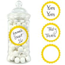 20 etichette adesive gialle