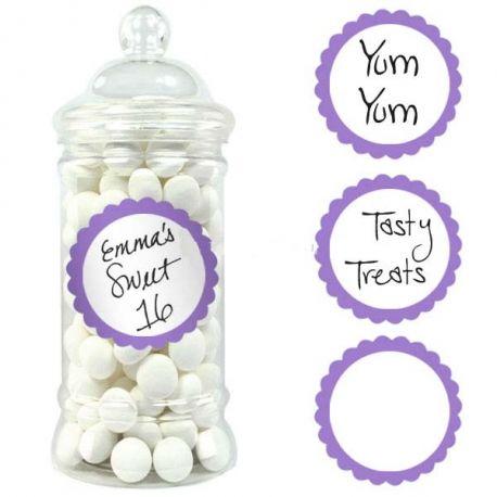 20 etichette adesive viola
