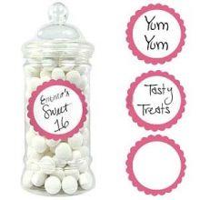 20 etichette adesive rosa