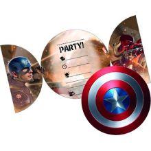 Capitan America Biglietti Invito (6 pz)