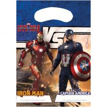 Capitan America Bustina Party (6 pz)