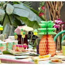 Festa Tropicale Decoro Ananas ( 3 pz)