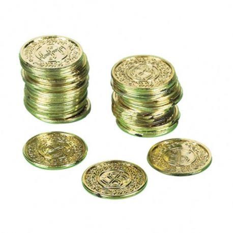 Monete in plastica veliero 72 pz