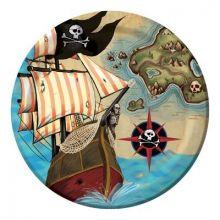Piatti Dessert Pirati Mappa del Tesoro