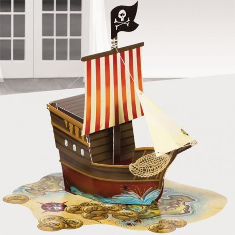 Festa Pirati Centrotavola Veliero 3D