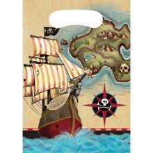 Sacchetto bottino dei pirati (8 pezzi)