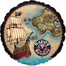 Palloncino mappa del tesoro Festa Pirati